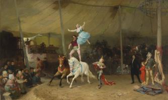 Frederick Arthur Bridgman. American circus in France
