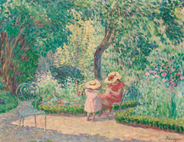 Henri Lebacq. In the garden Montevrain