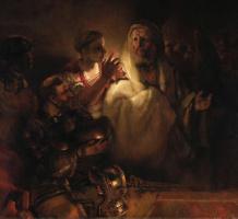 Рембрандт Харменс ван Рейн. Апостол Петр, отрекающийся от Христа