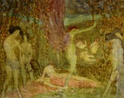 Alexander Shevchenko. Sketch of a panel. 1908-1910