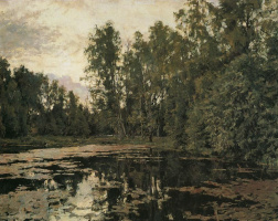 Valentin Aleksandrovich Serov. Overgrown pond. Domotkanovo