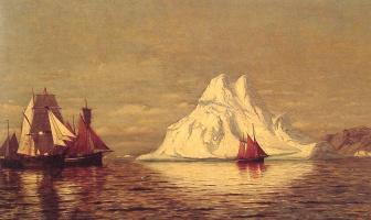 Уильям Брэдфорд. Корабли и айсберг