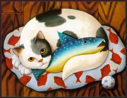Диана Джексон. Кот с рыбой