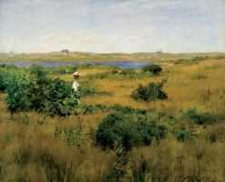 William Merritt Chase. Summer in the hills Shinnecock