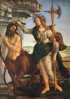 Sandro Botticelli. Pallas and the centaur