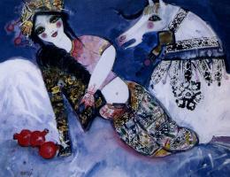 Насер Овисси. Лежащая женщина у коня