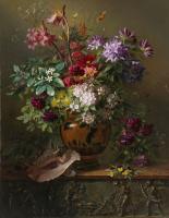 Георг Якоб Иоганн ван Ос. Натюрморт с цветами в греческой вазе, аллегория весны