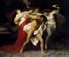 William-Adolphe Bouguereau. Orestes pursued by the Furies