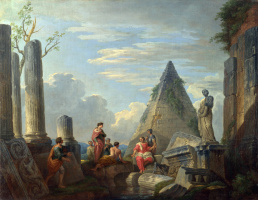 Джованни Паоло Паннини. Римские руины с фигурами