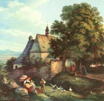 Адриан Людвиг Рихтер. Церковь св. Анна в Граупене