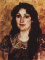 Василий Иванович Суриков. Портрет Елизаветы Суриковой — жены художника