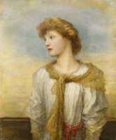 George Frederick Watts. Portrait of miss Lilian Macintosh.