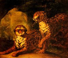 Теодор Жерико. Пара леопардов