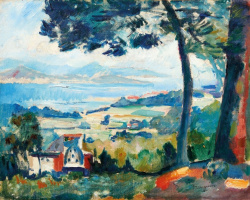 Henri Manguin. The view of the Villa Demie, Saint-Tropez