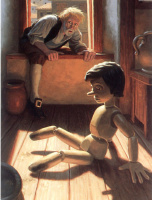 Грег Хильдебрандт. Буратино на полу