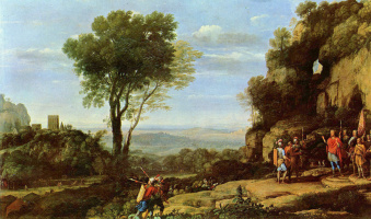 Клод Лоррен. Пейзаж с Давидом и тремя героями