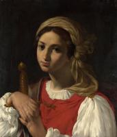 Итальянский. Женская фигура опираясь на меч