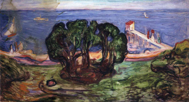 Edvard Munch. The trees on the shore