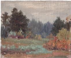 Arkady Pavlovich Laptev. In a forest glade