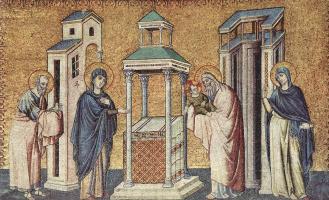 Пьетро Каваллини. Представление младенца Иисуса в храме