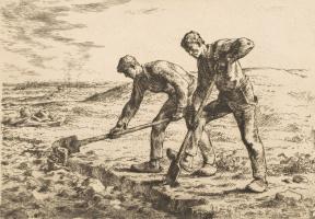 Jean-François Millet. Excavators