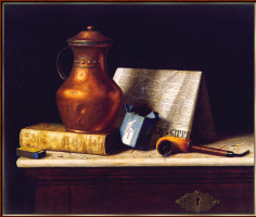 William Michael Harnett. Still life with copper