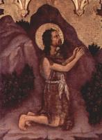 Джентиле да Фабриано. Коронование Марии, левая створка внешняя сторона, сцена: св. Иоанн Креститель