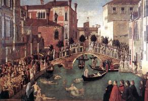 Джентиле Беллини. Чудо св. Креста у моста Сан-Лоренцо в Венеции