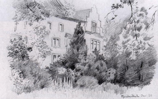 Бернард Гутман. Деревья возле дома