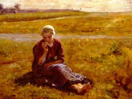Жюль Бретон. Обед на траве