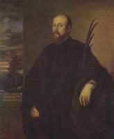 Тициан Вечеллио. Портрет художника с пальмовым листом