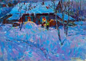 Сергей Иванович Бакаев. Зима. 1987 К.масло. 72х102