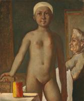 Бальтюс (Бальтазар Клоссовски де Рола). Юная девушка за туалетом