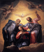 Паоло Веронезе. Коронация Девы. Роспись в церкви Сан-Себастьяно в Венеции