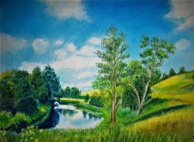 Elena Epishina. At the bend of the river