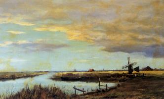 Ван Влиет. Пейзаж с мельницей