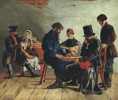 Игнатий Степанович Щедровский. Игра в шашки.