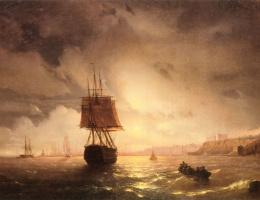 Ivan Aivazovsky. The Harbor at Odessa on the Black sea