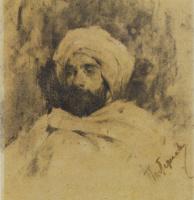 Леонид Осипович Пастернак. Портрет И.И.Левитана в костюме бедуина. 1887