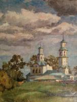 Arkady Pavlovich Laptev. Old church