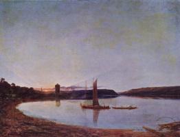 Фрэнсис Дэнби. Закат на озере