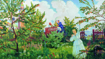 Boris Mikhailovich Kustodiev. Apple orchard