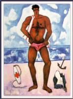 Марсден Хартли. Мужчина в розовых плавках на пляже