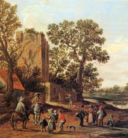 Ян ван Гойен. Пейзаж с разорением башни