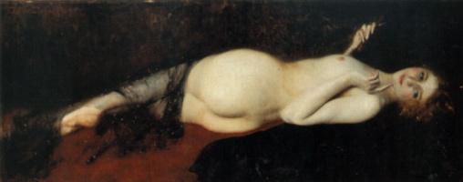 Константино Барбелла. Лежащая обнаженная