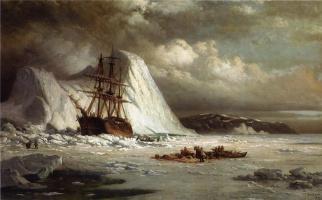 Уильям Брэдфорд. Застрявший во льдах корабль