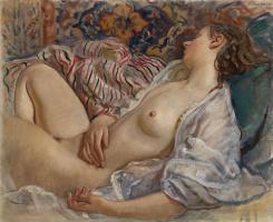 Зинаида Евгеньевна Серебрякова. Спящая обнаженная (Катя)