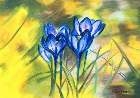 Ekaterina Sergeevna Dudyshkina. Spring flowers