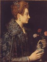Софонисба Ангвиссола. Портрет молодой женщины в профиль