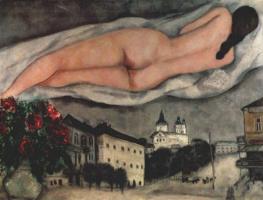 Marc Chagall. Obnajennaya over Vitebsk